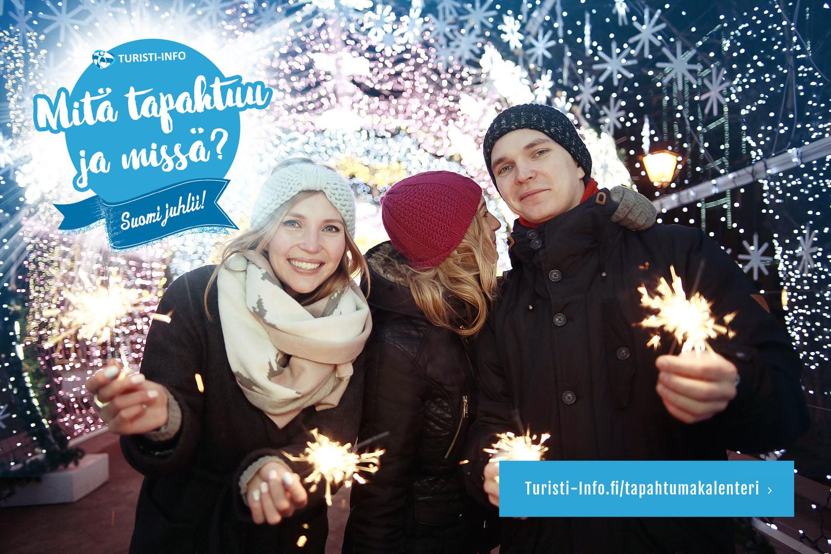 Suomi 100 -juhlaviikon, joulun ja uuden vuoden tapahtumat